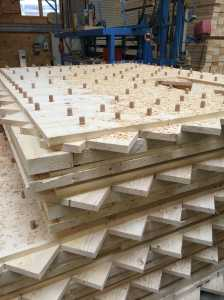 NUR-HOLZ panels in production